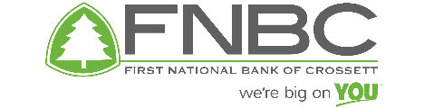 First National Bank of Crossett ... we're big on YOU!