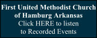 Hamburg Firsr United Methodist Church - Listen to recorded church events